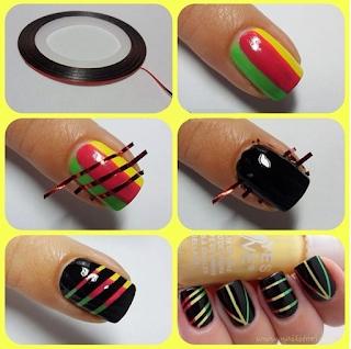 Truco para un diseño de uñas estilo reggae