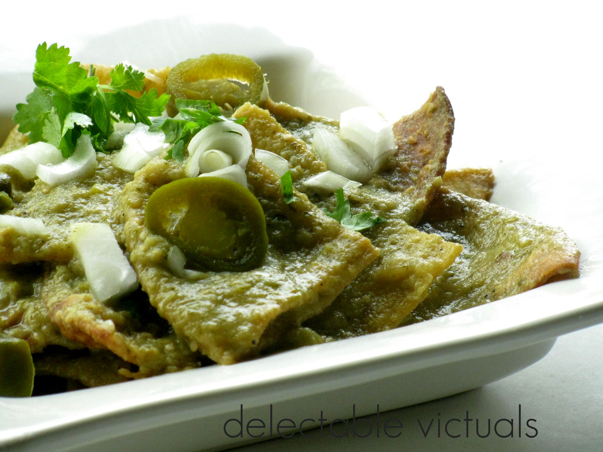 Delectable Victuals: Chilaquiles with Salsa Verde