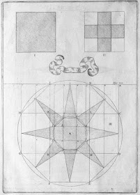 17th cent. geometrical sketch for solid body model
