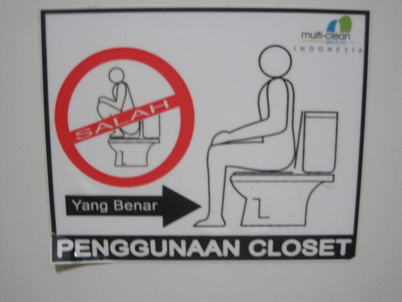 Imagenes De Tazas Baños:Baños de Indonesia: no hay que subirse a la taza del water, es para