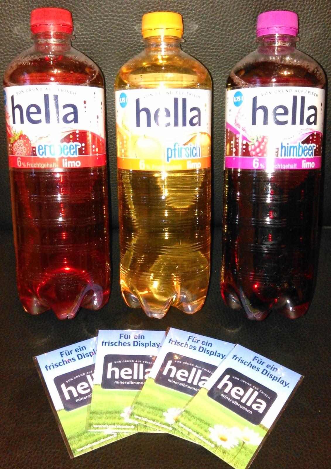 Jenny-testet: Produkttest - Hella Mineralbrunnen - Hella Limonade