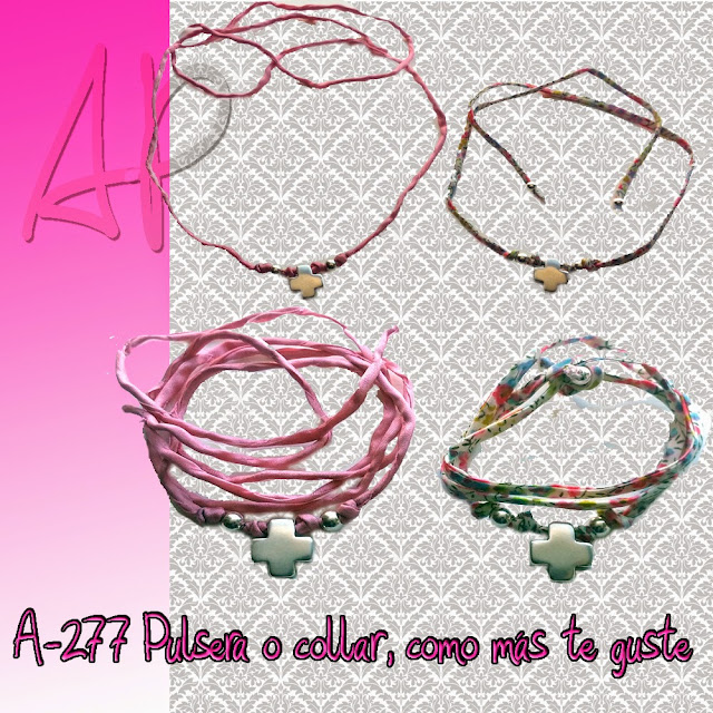 Pulsera collar cruz