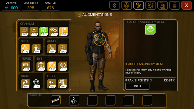 Deus Ex The Line Augmentations Screen