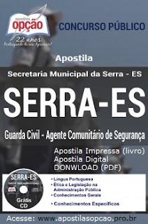 Apostila Prefeitura da Serra Agente Comunitário de Segurança 2015