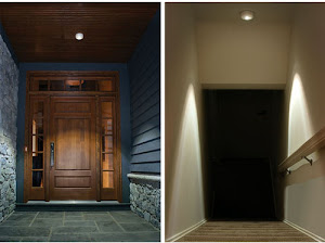 Ceiling light as a porch light and as a stairway light