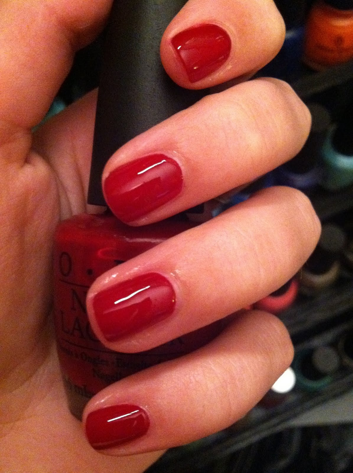The Real Polish Princess: OPI Got the Blues for Red