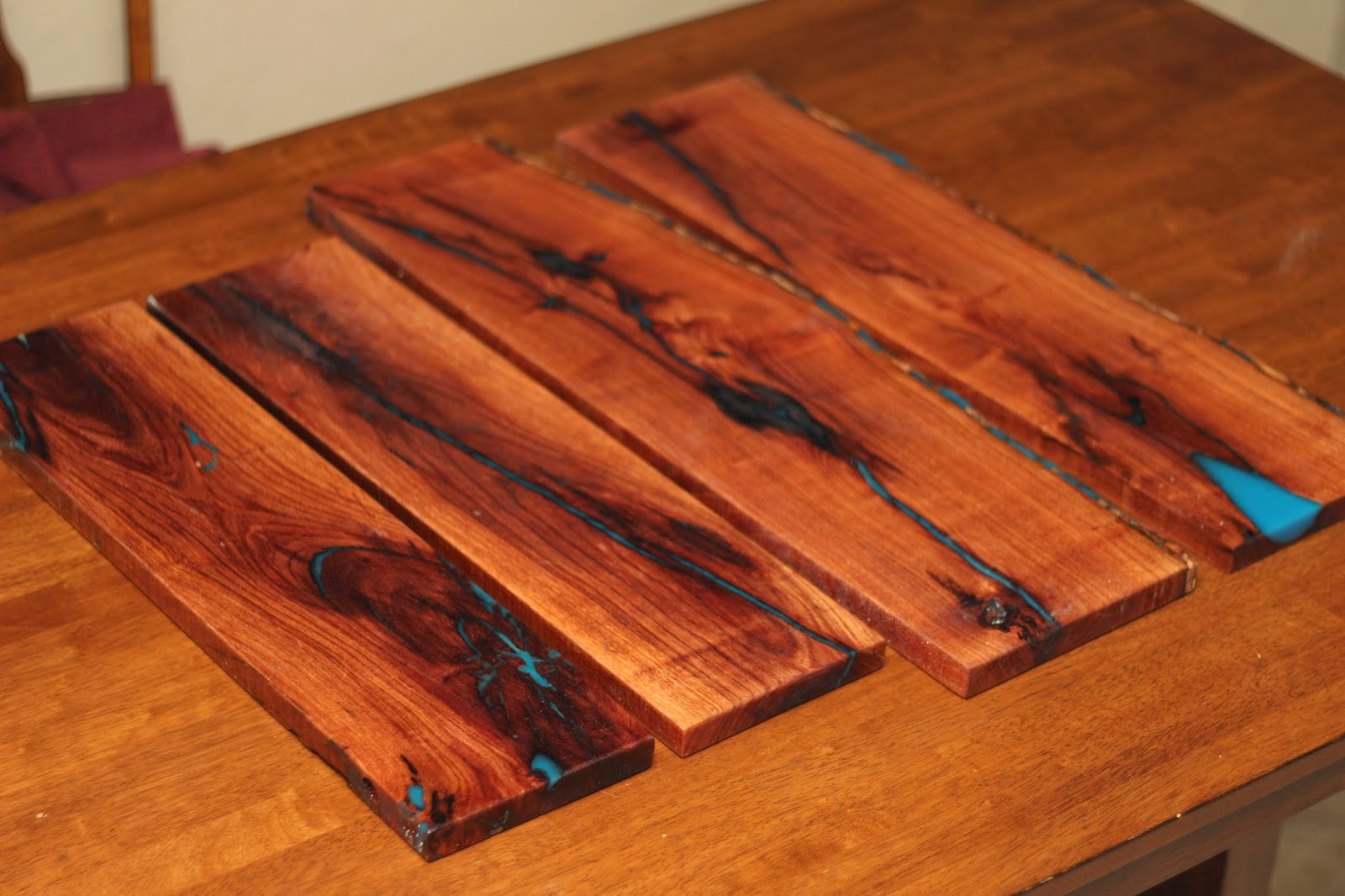 Glow In The Dark Resin rustic diy projects: how to: glow in the dark resin inlay shelves