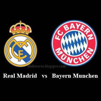 Semifinal Bayern Munchen vs Real Madrid