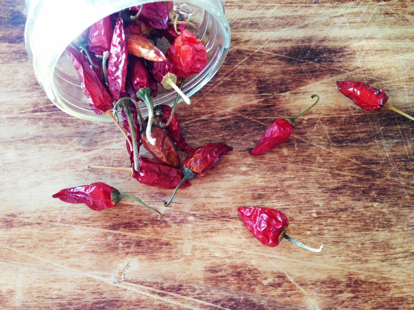 Dried Chile Peppers : Homemade Salsa Recipe || TastesSoGoodBlog.Blogspot.com