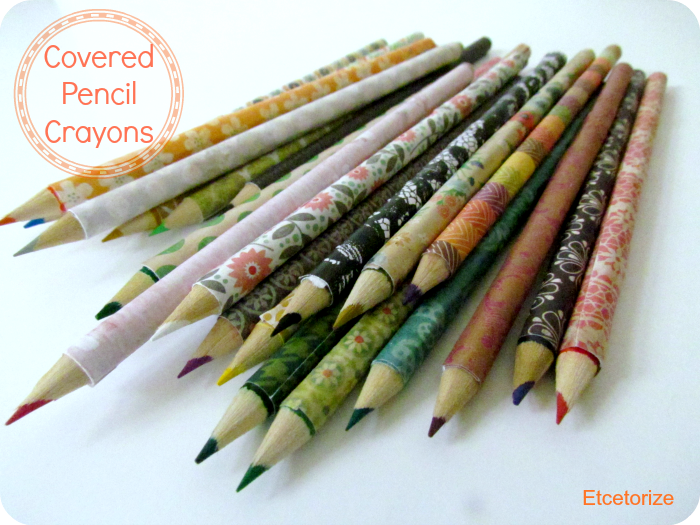 Mod Podge Pencil Crayons, Decorative Crayons, DIY Pencils, Covered Pencils, Easy Mod Podge