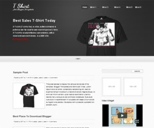 T Shirt Blogger Template
