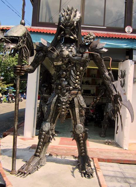 metallic alien