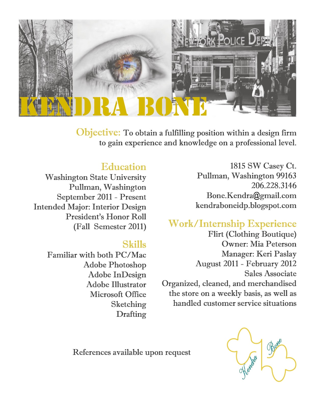Kendra Bone's Interior Design Portfolio: Resume