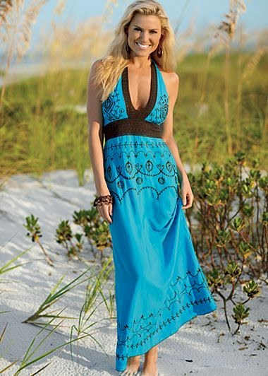See more Embroidered Maxi Dress $49 Stunning as a dress or cover up, delicate embroidery and crochet add a special touch. ·