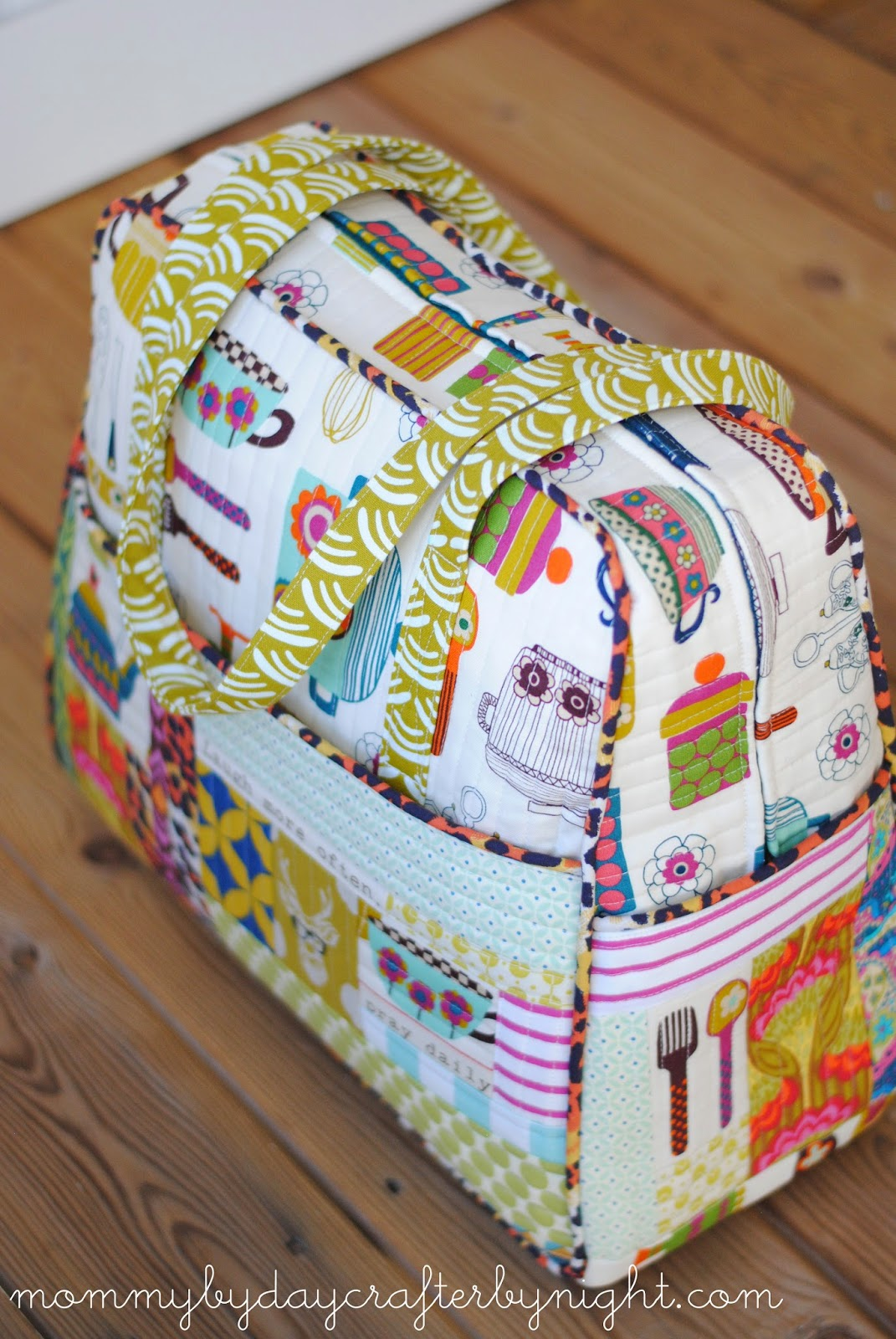 Mommy by day Crafter by nightQuilted Weekender Bag #5