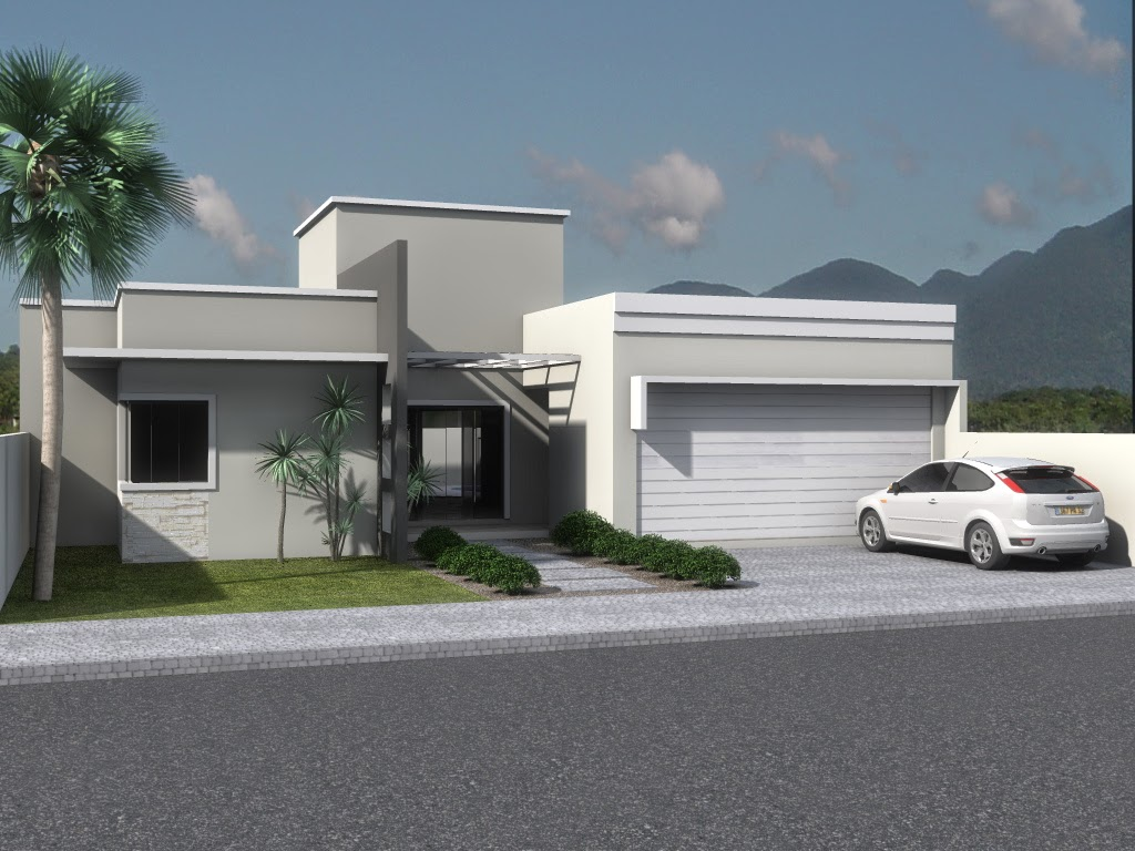 30 Fachadas de casas modernas e cinza – a cor do momento! Decor  #646C42 1024 768