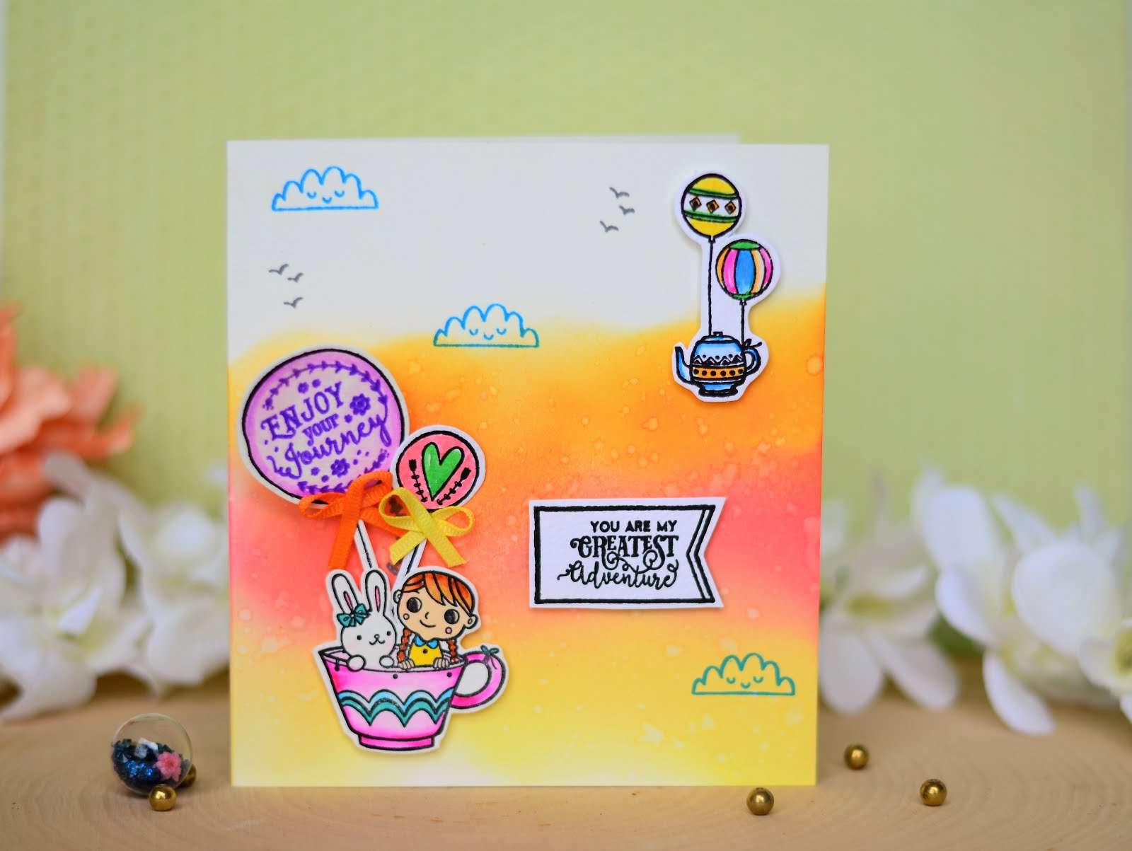 My card picked as Top 3 for Pinkfresh Studio June Challenge