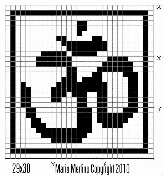 Filet Crochet: AUM OM Symbol Chart Graph Yoga Meditation Buddah Filet ...