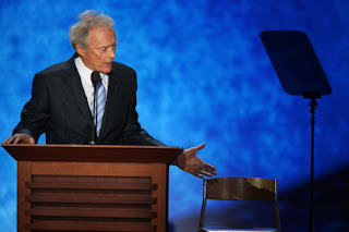 Clint Eastwood speaking at the Republican National Convention on Thursday