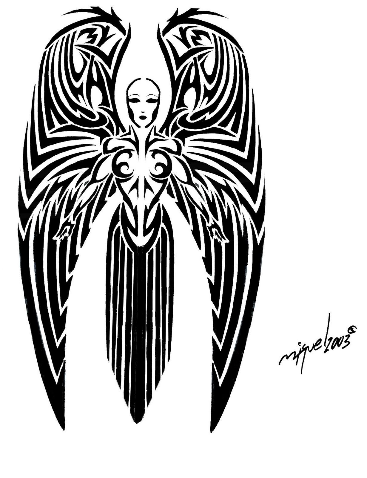 Tribal-Tattoos Angel+Tattoo+Girl+photo+2012%252Cfree-tribaltattoo
