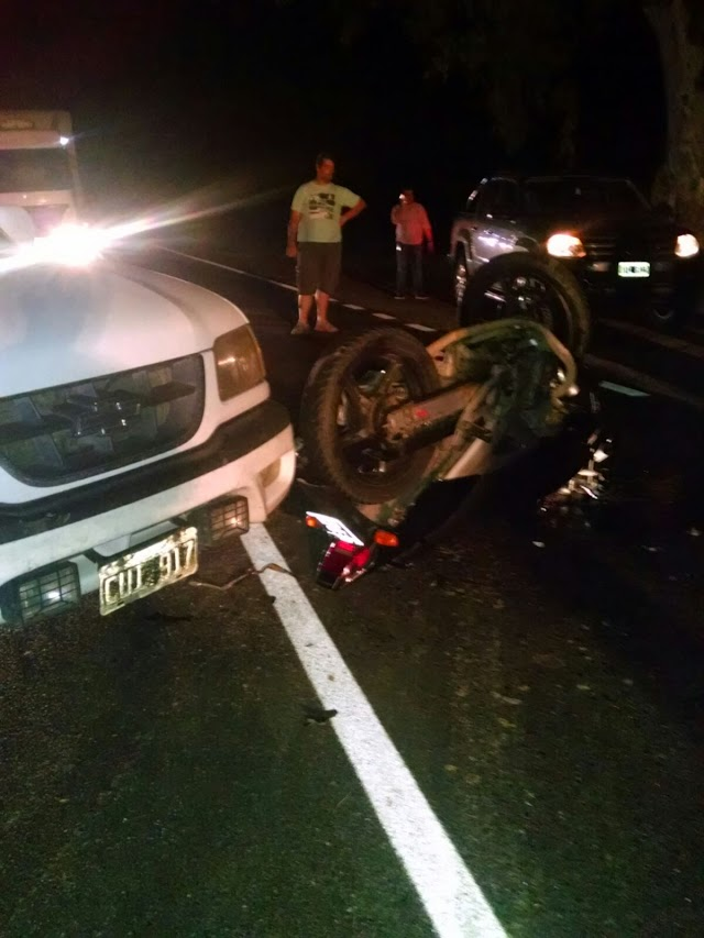ACCIDENTE EN RUTA 41 KM 270 ENTRE UN AUTO Y UNA MOTO