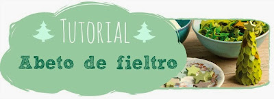 Tutorial abetos de fieltro