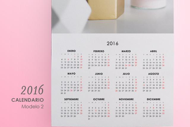 calendario para imprimir 2016 personalizado modelo 2