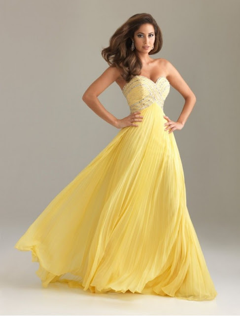 Chiffon Sweetheart Strapless Neckline Column Prom Dress with Pleated Beaded Bodice