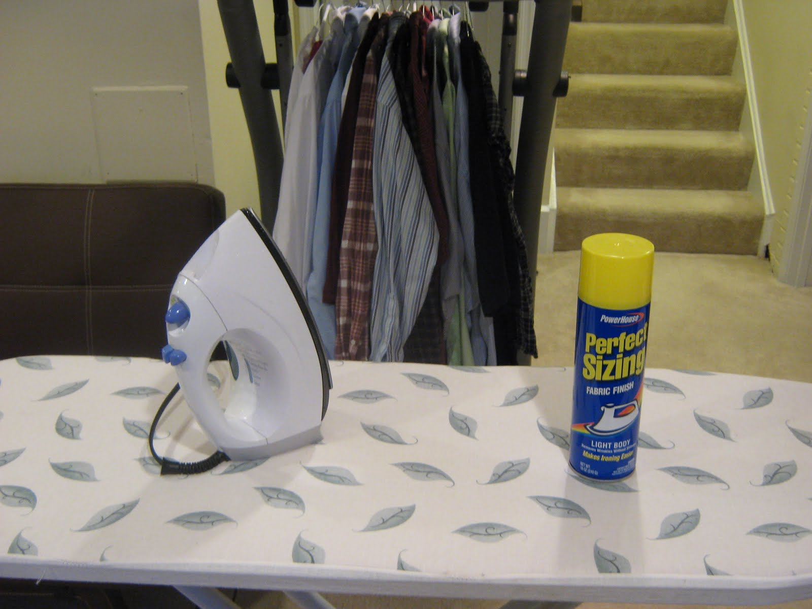 Fake it frugal why pay dry cleaning when i can do it myself for practically free so back to the ironing board i went armed with a can of spray starch and a good soap opera to watch solutioingenieria Image collections