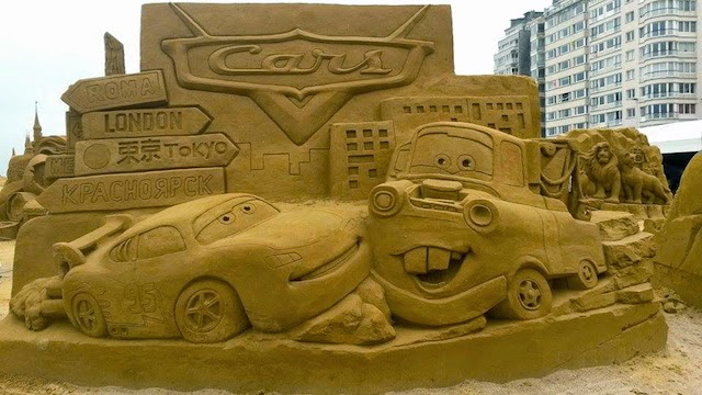 Cars Disney Sand Sculpture