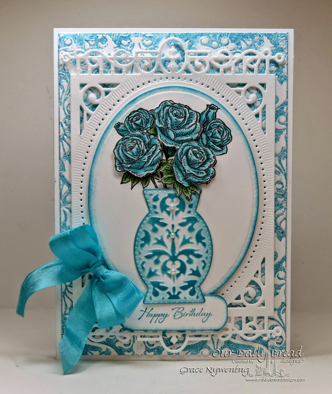 Our Daily Bread designs stamps, Rose Bouquet, Iris, ODBD Decorative Vase Die, designed by Grace Nywening
