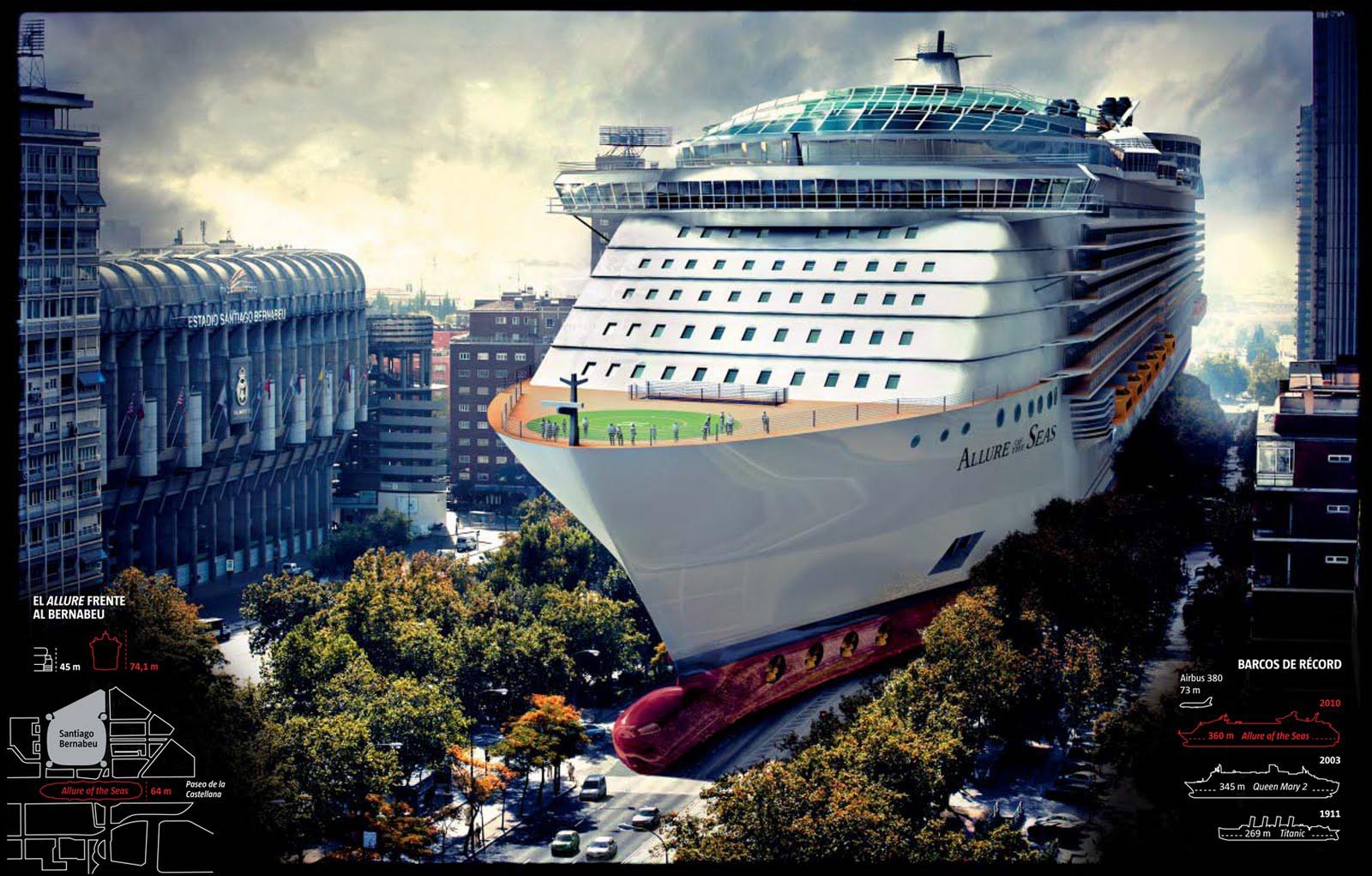 Масштабы allure of the seas действительно впечатляют, так высота корабля равна 71-му метру