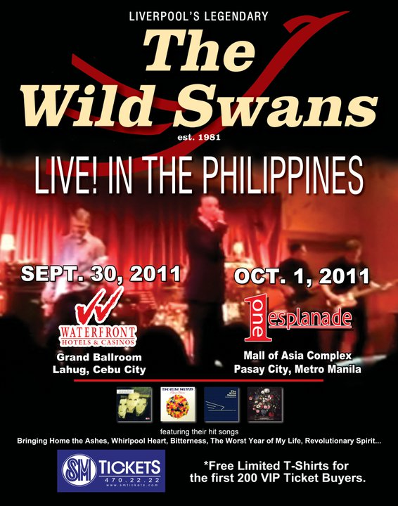The Wild Swans Live in Manila and Cebu Philippines, The Wild Swans Live in Manila Philippines Ticket prices