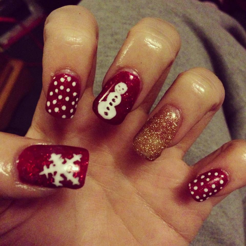 Christmas Nails Pinterest Shellac christmas nails!