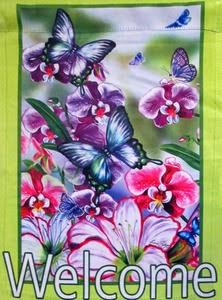 Butterflies and Orchids Garden Flag