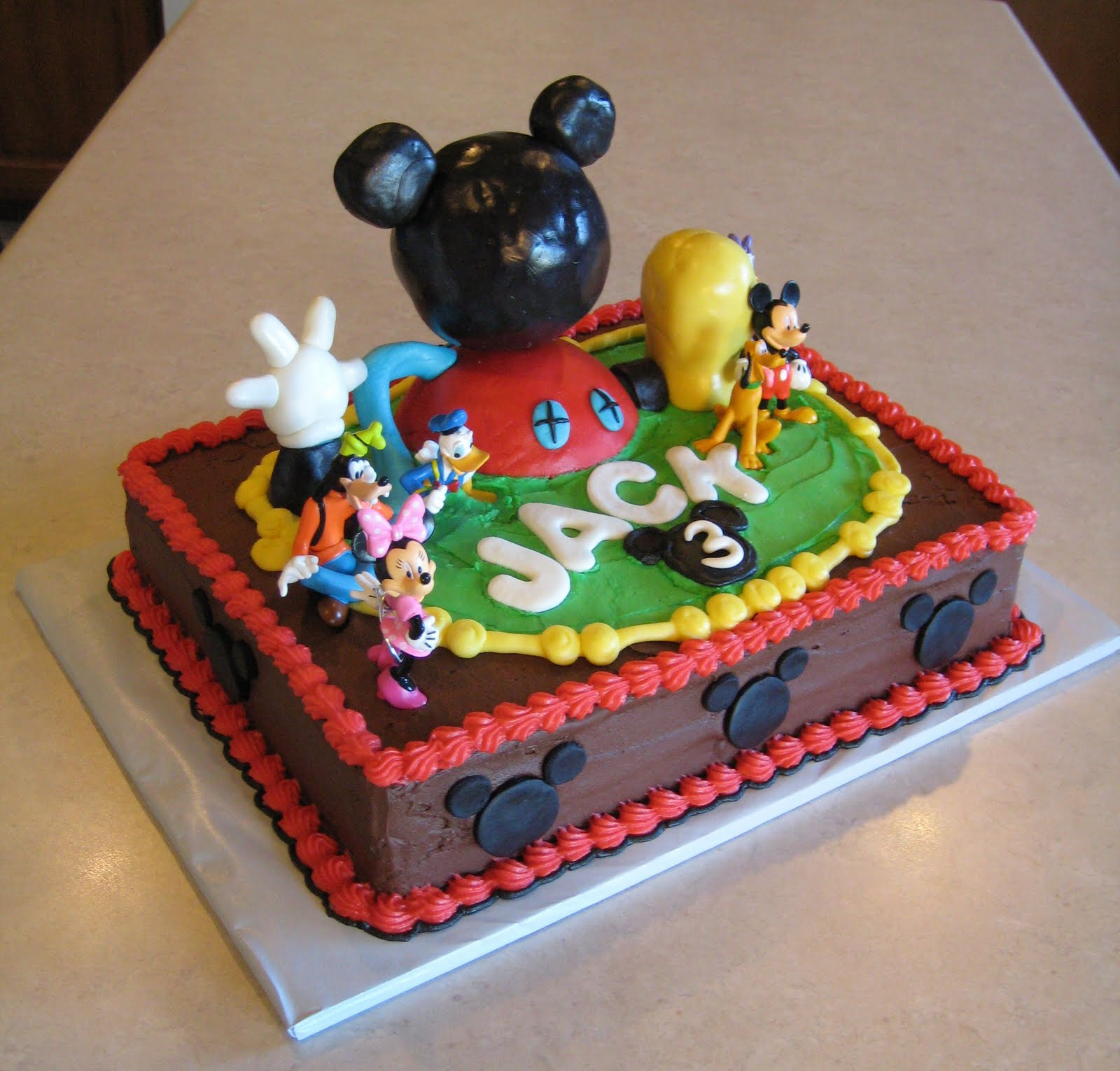Custom Cakes by Julie Mickey Mouse Clubhouse Cake II