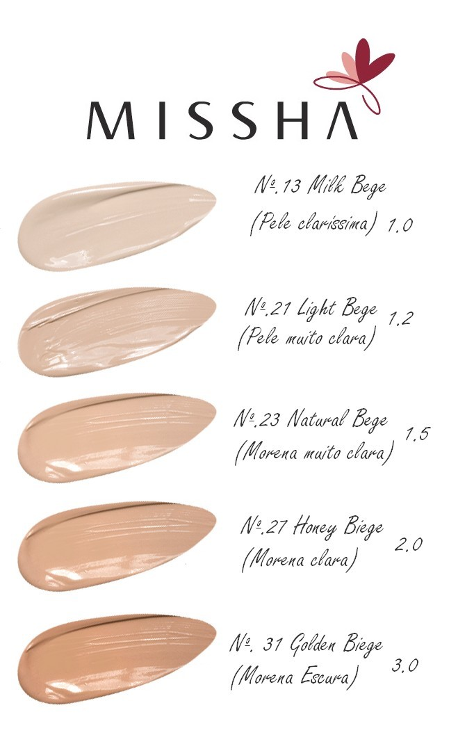 Missha Bb Cream Colors