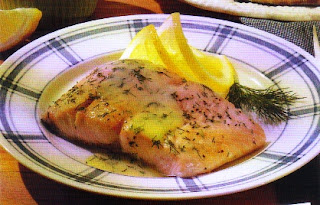Grilled Salmon in Dill Sauce