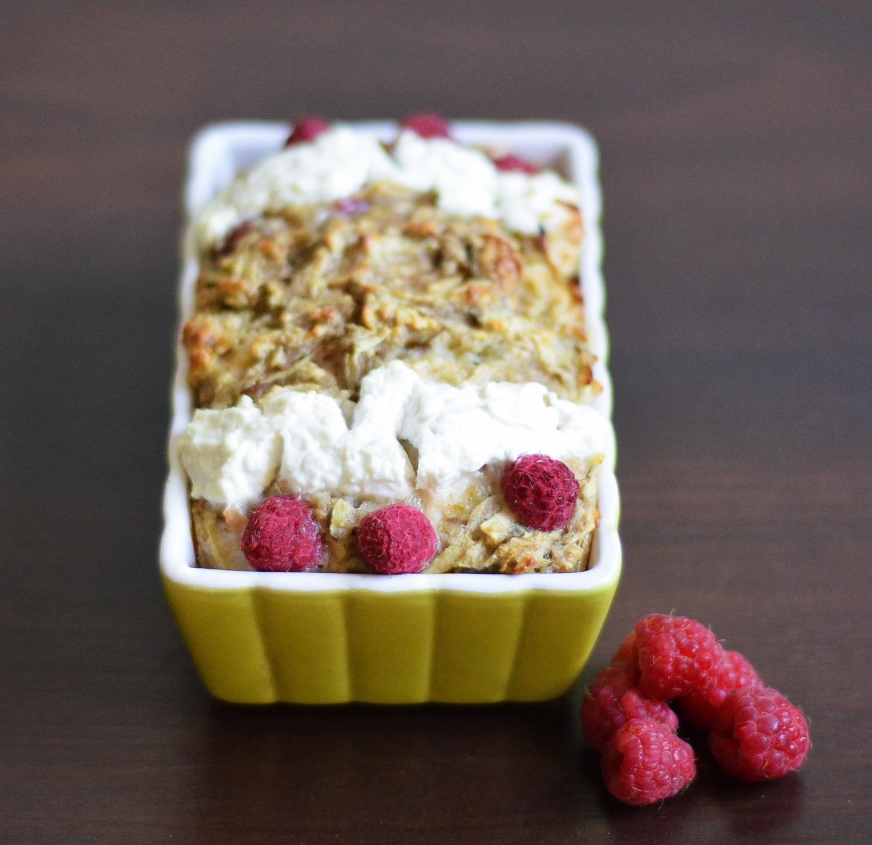 dietetyczne ciasto z malinami
