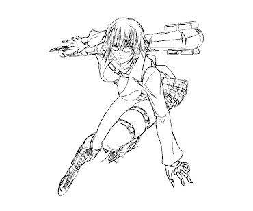 #1 Lady DMC Coloring Page