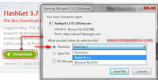 Cara Download dengan Flashget - 7