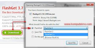 Cara Download dengan Flashget - 7