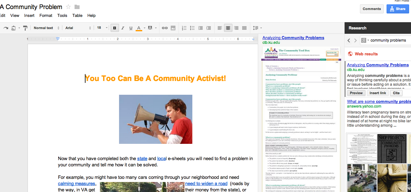 how to set up google docs for students