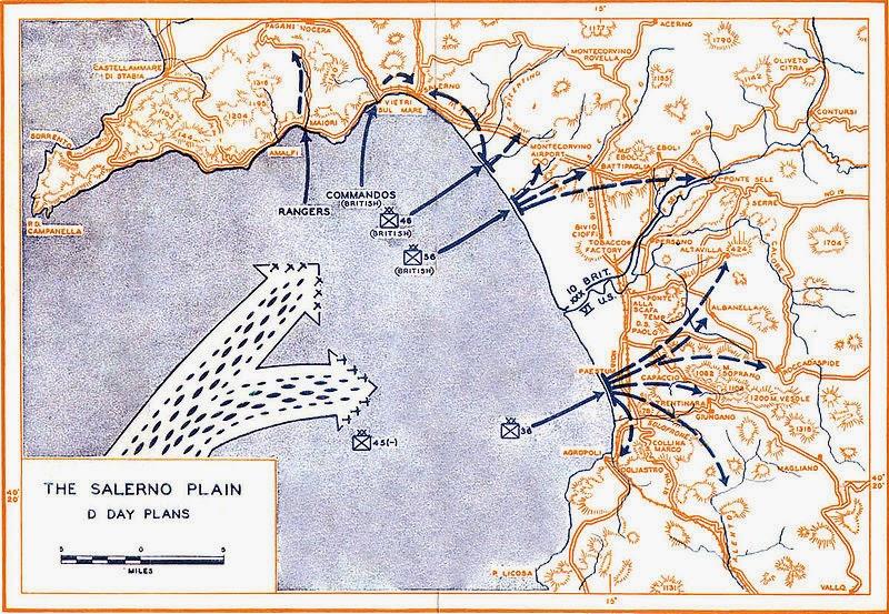 Planul debarcării din golful Salerno
