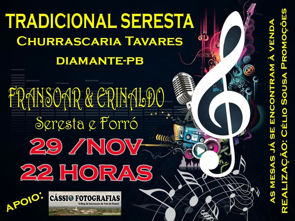 SERESTA CHURRASCARIA TAVARES 29 NOVEMBRO