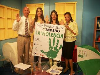 SOY PERIODISTA Y CONDENO LA VIOLENCIA, EN EL CANAL 55
