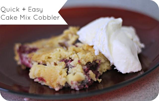 Easy Blackberry Cobbler Using Cake Mix
