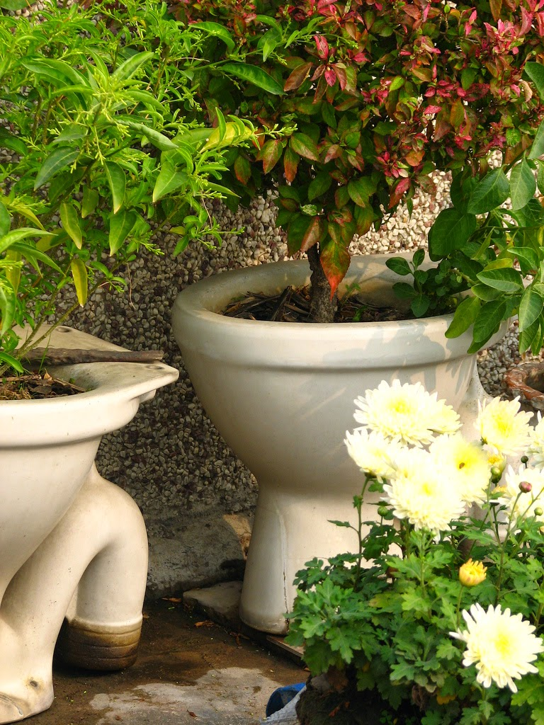 Foody 39 s home and garden gazette ghetto garden fabulous 3 for Garden design ideas with pots