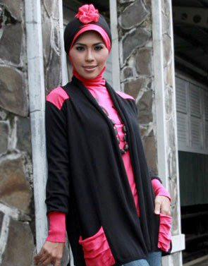 Zenitha Collection Blouse Muslimah Modern hitam fanta