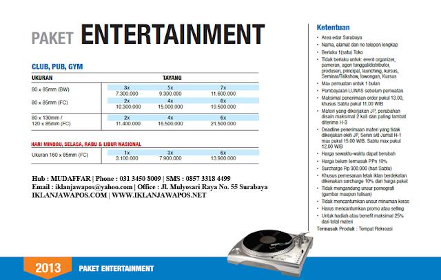 Jawa Pos Iklan Paket Entertainment 2013